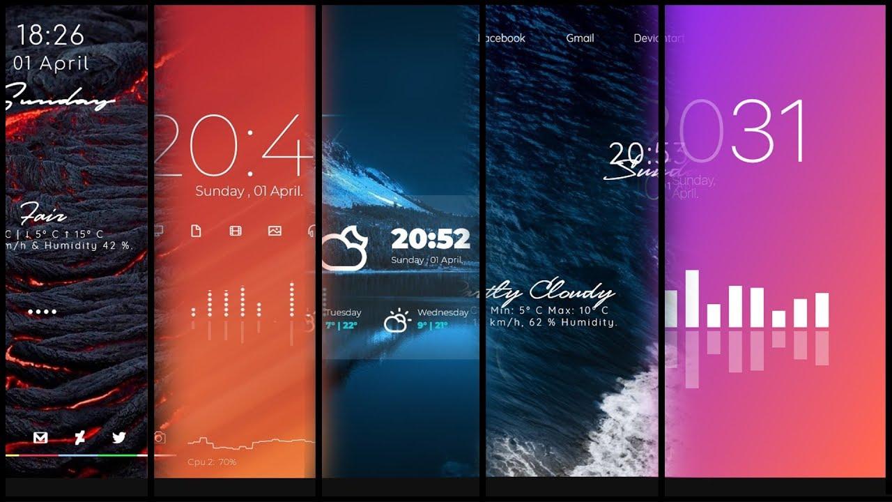 Top 5 most amazing rainmeter skins |Windows desktop customization|