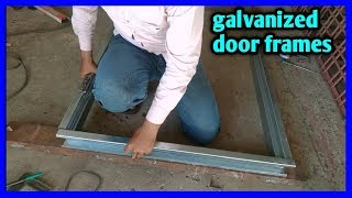 metal door frame, Hollow metal frame installation ||
