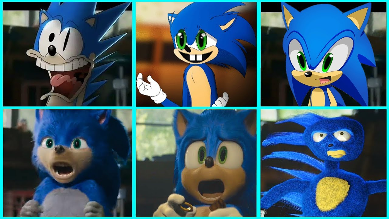 Sonic The Hedgehog Movie Uh Meow All Designs Compilation Youtube