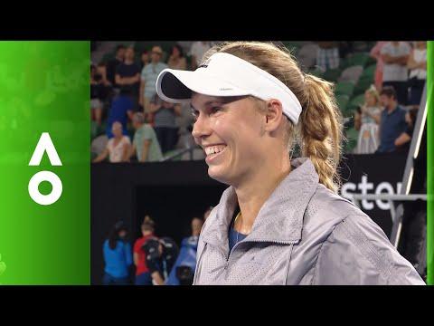Caroline Wozniacki on court interview (3R)   Australian Open 2018
