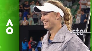 Caroline Wozniacki on court interview (3R) | Australian Open 2018