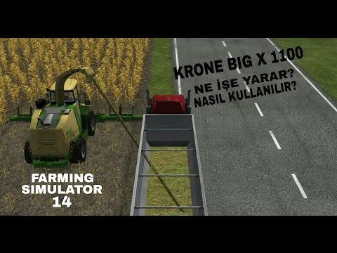 Farming Simulator 14 I KRONE BIG X 1100 Nasıl Kullanılır? from YouTube · Duration:  3 minutes 53 seconds