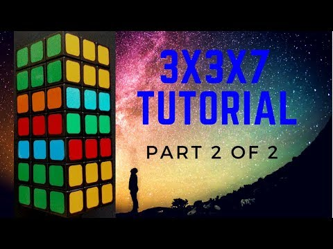 Part 2: How to solve the 3x3x7 TUTORIAL with the BeardedCuber