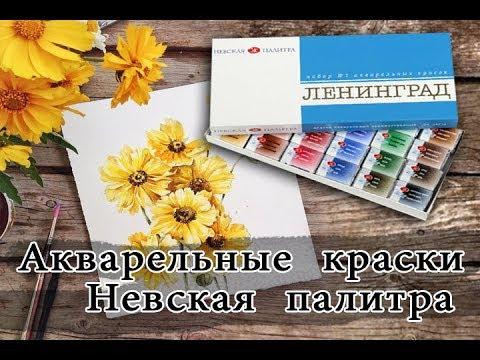Акварельные краски профессиональные Невская палитра || Распаковка, обзор, отзыв
