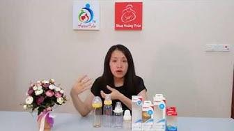 [ Review ] Bình sữa  cổ rộng và cổ nhỏ hiệu Pigion (Nhật Bản)