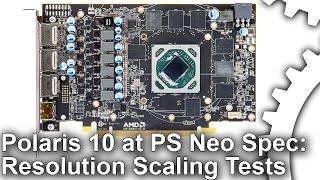 AMD Polaris 10 at PlayStation Pro Spec! Full Benchmarks