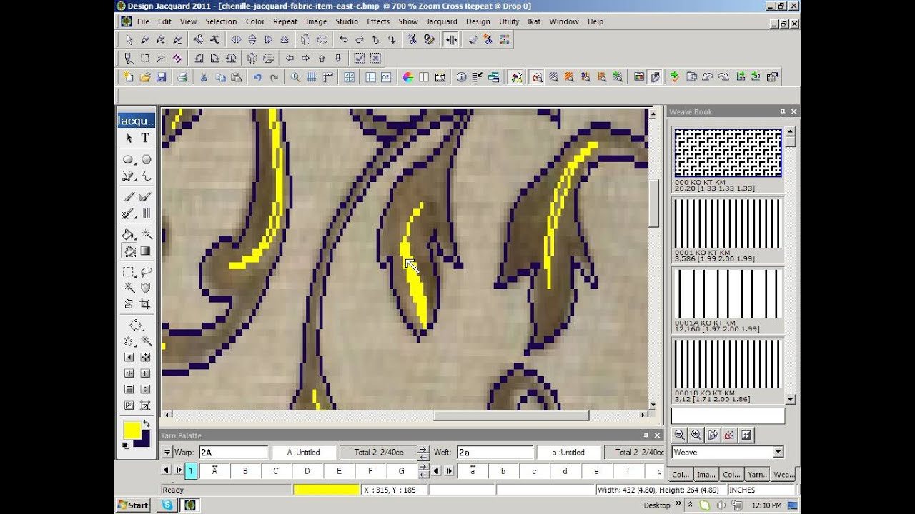 Textronics Jacquard Design Creation Youtube
