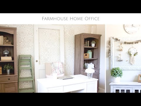 A DIY Farmhouse Style Home Office Makeover