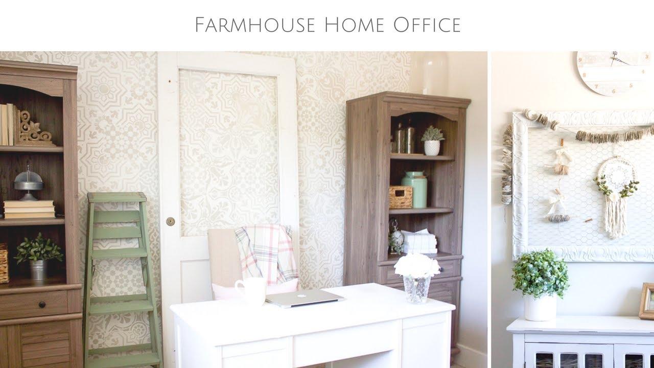 Farmhouse Style Home Office Tour