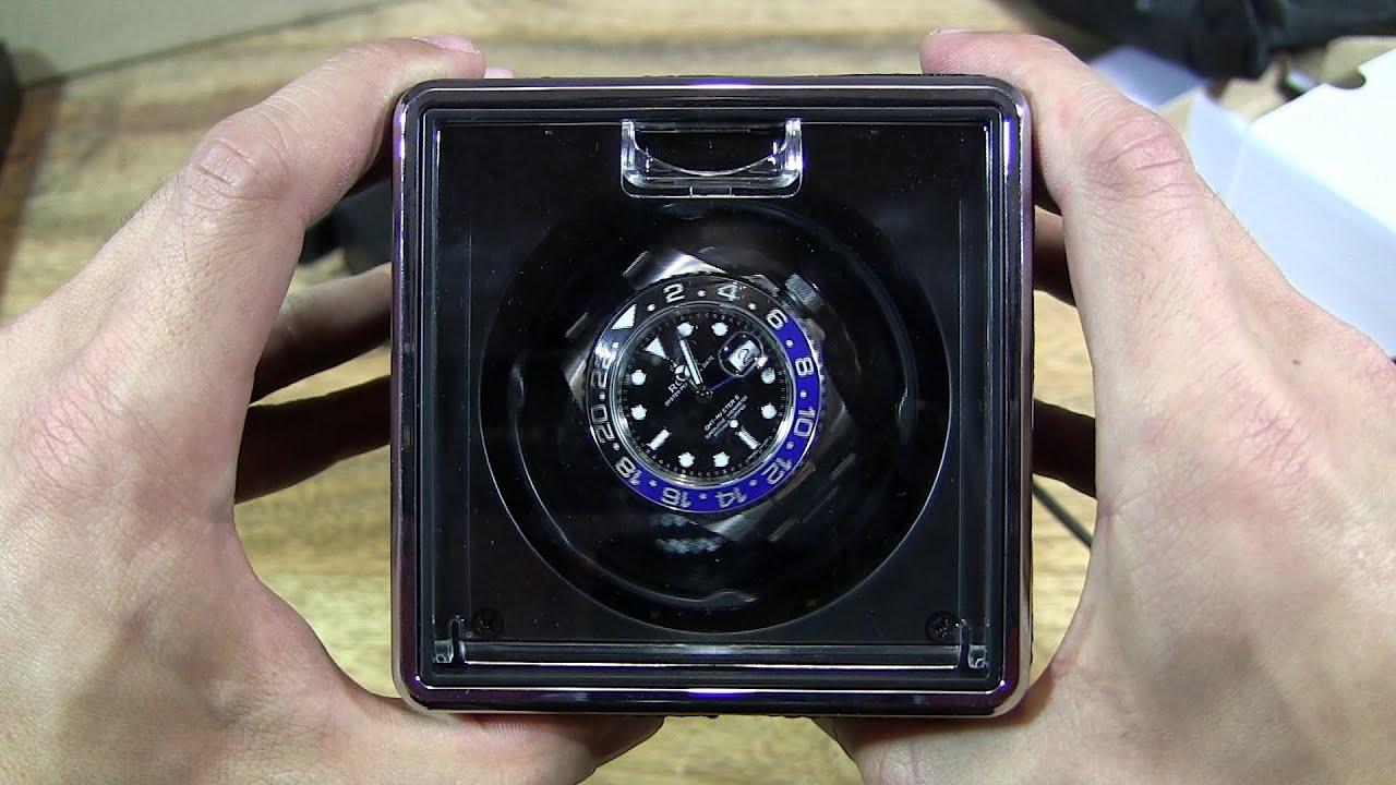 Excelvan Black Crocodile Pu Leather Automatic Watch Winder Youtube
