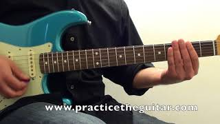 Stevie Ray Vaughan-Pride And Joy Style-Blues Guitar Lesson-Texas Blues Fender Strat