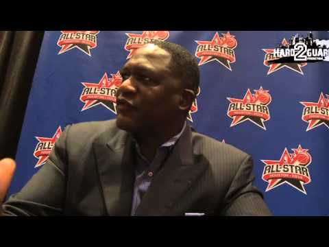 Former NBA Great Dominique Wilkins At NBA ALL STAR Weekend
