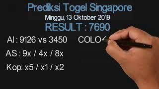 Prediksi Singapore Minggu 13 Oktober 2019   Togel SGP
