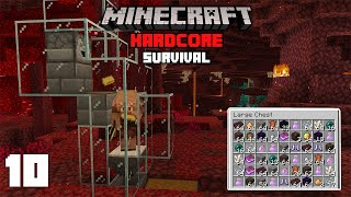 Minecraft: EASY Piglin Farm to get RICH! - 1.16 Hardcore Survival Let's Play | 10