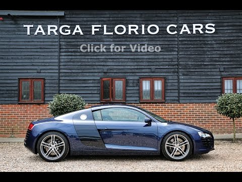 Audi R8 4.2 V8 6 Speed Manual in Mugello Blue Metallic with STaSIS Stainless Steel Exhaust