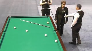 Скандальная контровая за 30000. Сагындыков - Смирнов St.-Pb Open 2013. Бильярд Dynamic Pyramid.