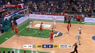 Мужская национальная сборная Украины по баскетболу победила в Киеве Испанию