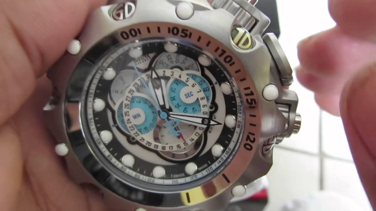 da957afffe7 ajuste cronômetro Relógio invicta venom hybrid 16803 original ronda suiço -  YouTube