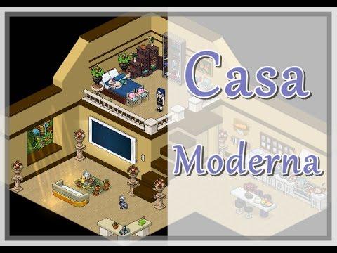 Casa moderna apartamento moderno habbo tutorial youtube for Casas en habbo