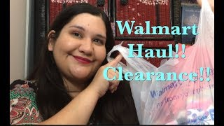 Walmart Haul!! Little makeup and Clearance!!