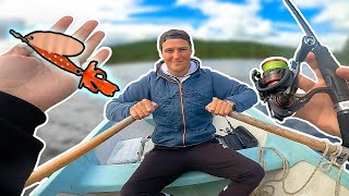 FISHING PERCH IN ROWING BOAT WITH ABU REFLEX SPINNER | Team Galant