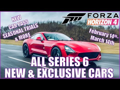 Forza Horizon 4 ALL NEW AND EXCLUSIVE CARS IN SERIES 6 February-March thumbnail