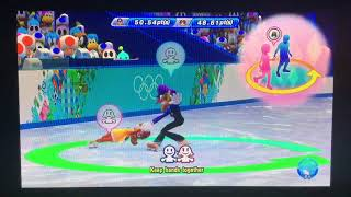 Mario & Sonic at the Sochi 2014 Olympic Winter Games Figure Skating Pairs 254