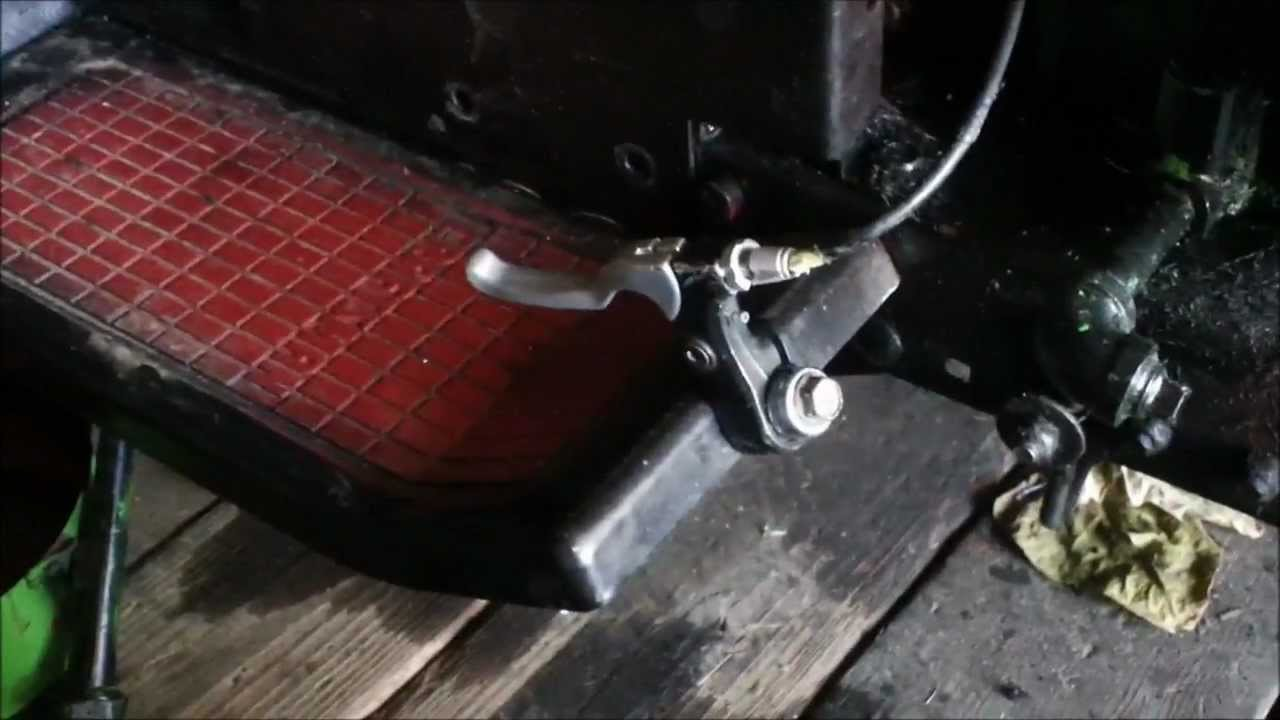 How To Make A Lawn Mower Gas Pedal Youtube