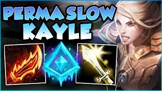 STOP PLAYING KAYLE WRONG! GLACIAL AUGMENT KAYLE = ENDLESS SLOWS?? KAYLE GAMEPLAY! League of Legends
