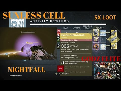 Destiny Nightfall The Sunless Cell with 3x loot