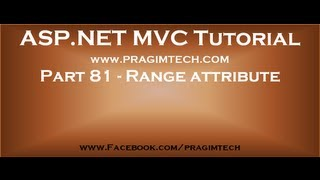 Part 81   Range attribute in asp net mvc