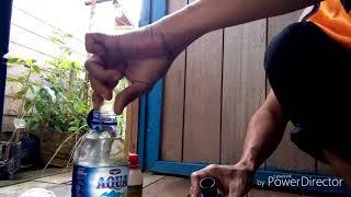 Cara Membuat Infus Tabulampot dengan botol Agua