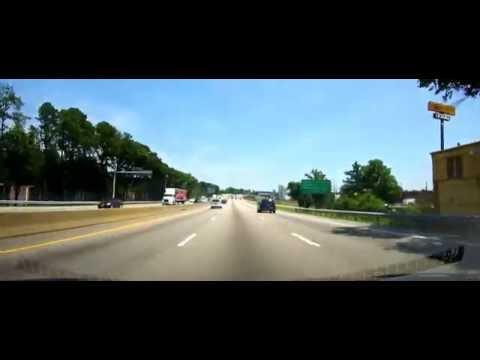 Driving through Downtown Richmond, VA on I95