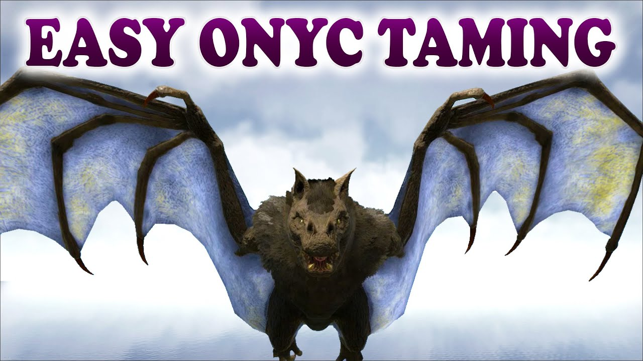 ARK   HOW TO EASY TAME AN ONYC   Easy Bat Taming With A Trap in ARK  Survival Evolved