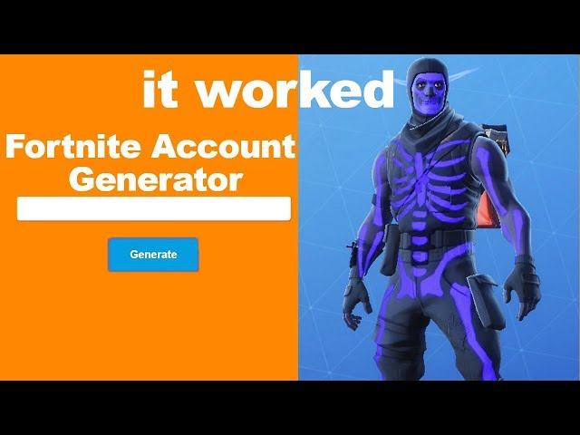 I Used A New Fortnite Account Generator And Got This
