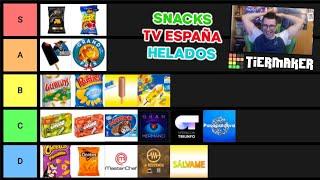 TIER LIST DE SNACKS, PROGRAMAS TV ESPAÑA Y HELADOS | Tiermaker JuanluDBZ