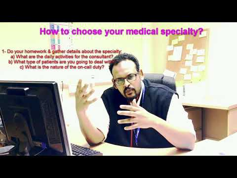 How to choose your medical specialty by Dr. Mohammed A. Kaballo