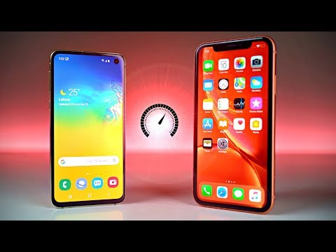 Samsung Galaxy S10E vs iPhone XR - Speed Test!