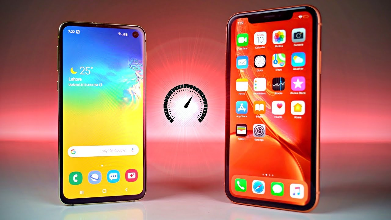samsung galaxy s10e vs iphone xr speed test youtube. Black Bedroom Furniture Sets. Home Design Ideas