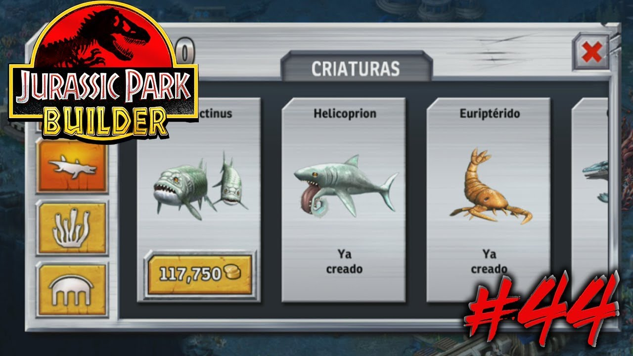 TENEMOS A LOS XIPHACTINUS!! | Jurassic Park Builder #44 ...