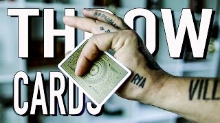 How To THROW Playing Cards FAST!