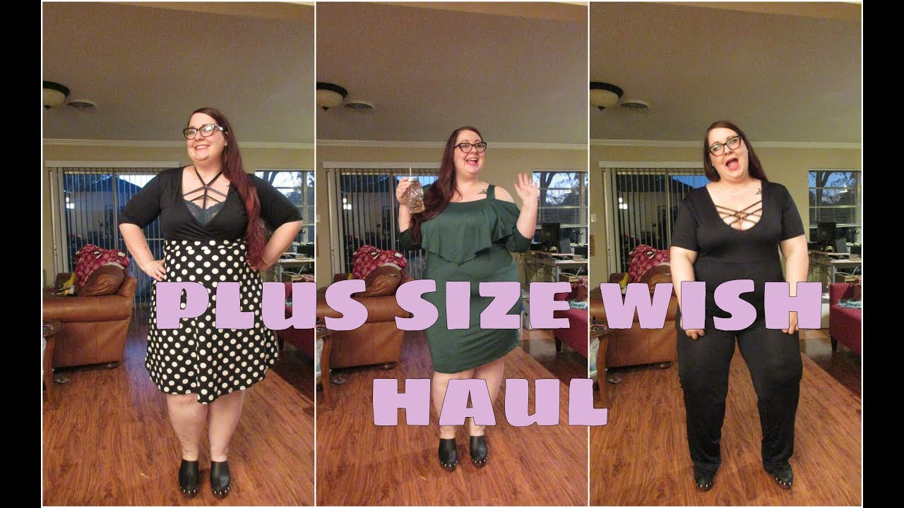 35c180a6b19b1 Plus Size Wish Haul - YouTube