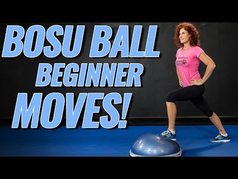 TOP 5 BOSU BALL EXERCISES FOR BEGINNERS / Lower & Upper Body Follow Along