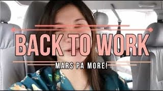 Back to work for Mars pa More! | Camille Prats