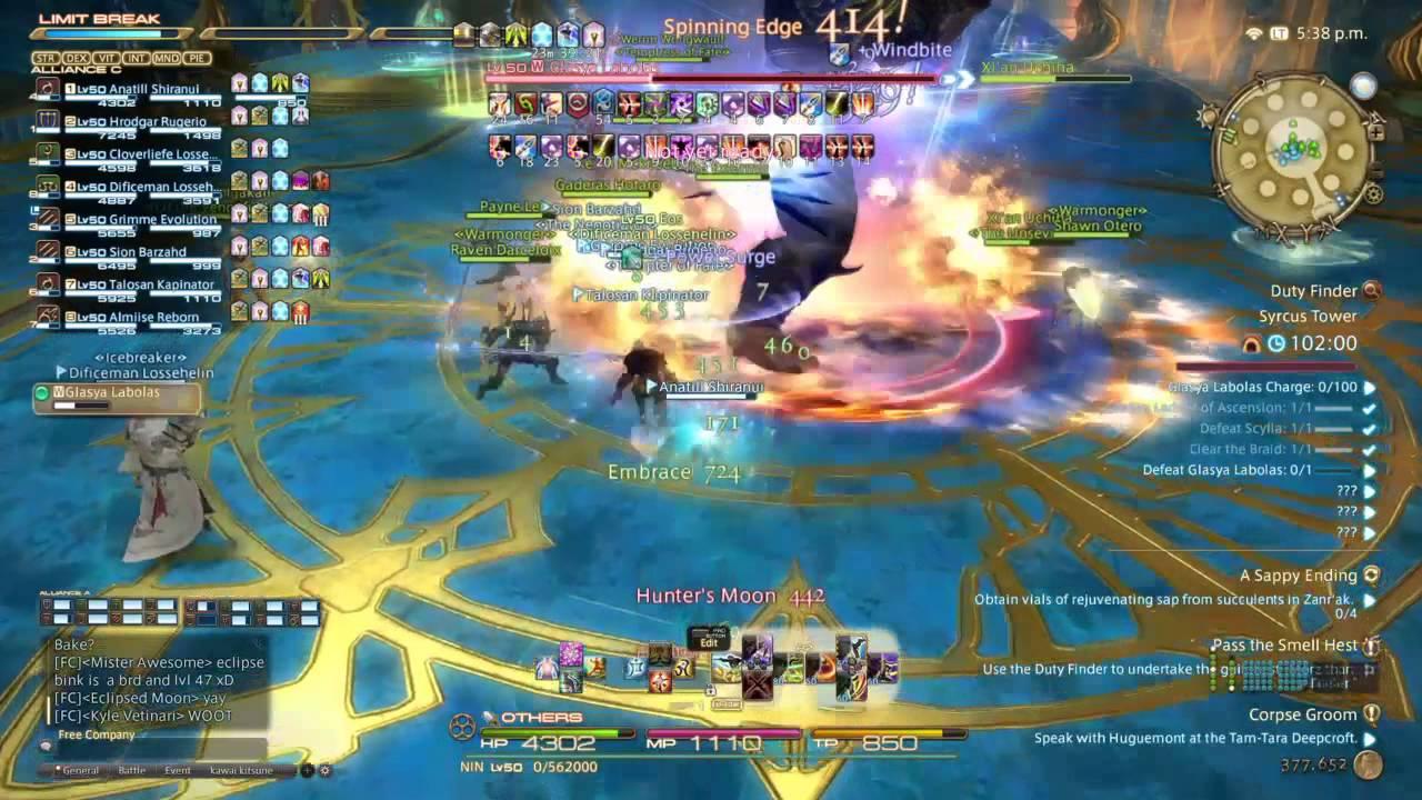 Final fantasy XIV Raid boss fight