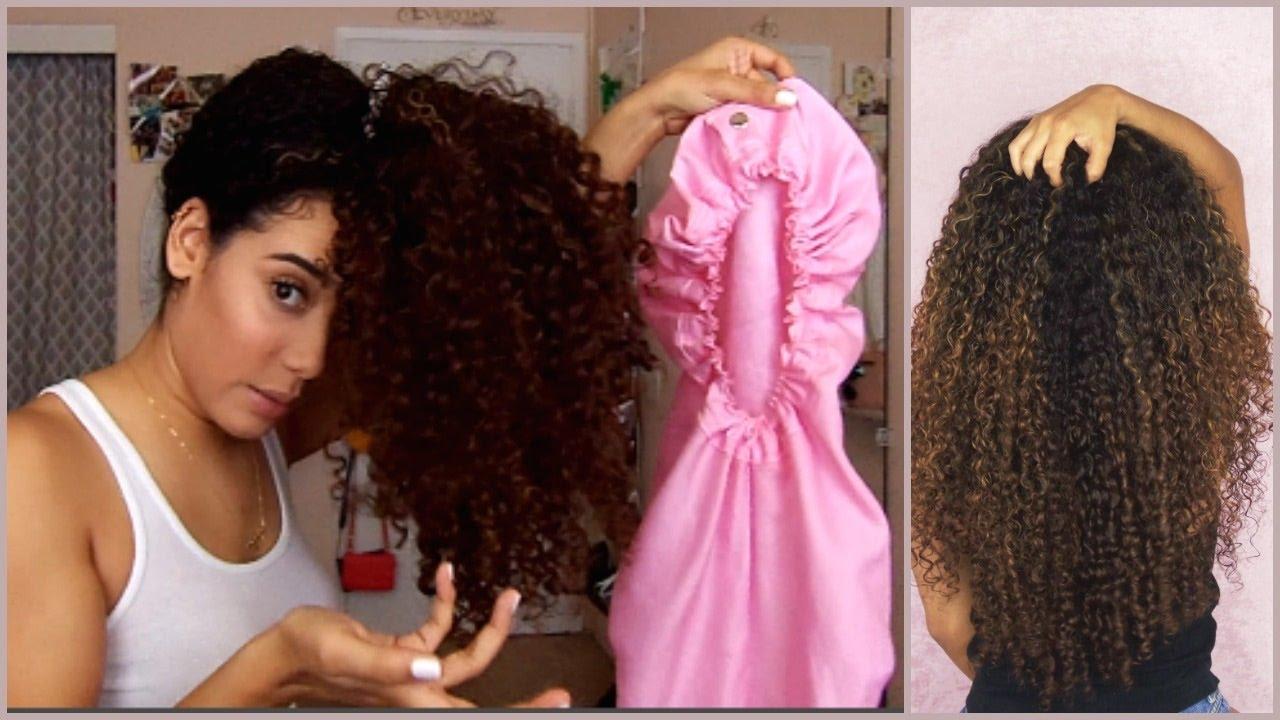 sleep with long curly hair