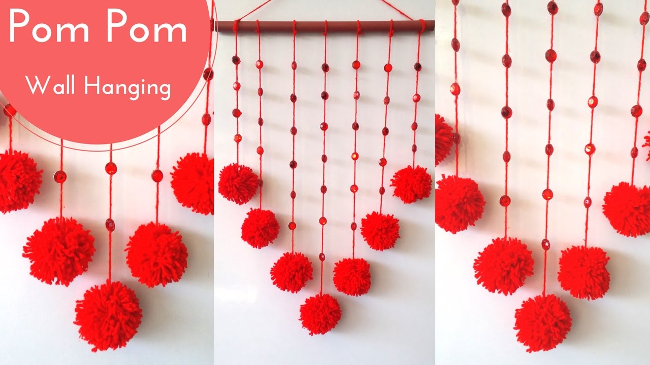 New Wall Hanging Crafts Ideas Decorations Diy With Pom Decor By Maya Kalista