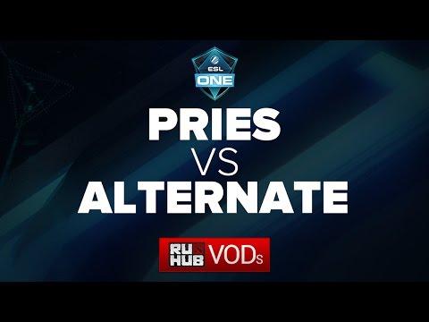 Pries   vs   Alternate ESL Frankfurt  Qualifiers, LB Round 1, game 2