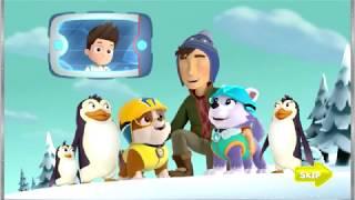 Щенячий патруль, мультик игра, Снежный спуск, щенки спасают друзей