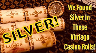 Opening Vintage Vegas Casino Bank Rolls For Silver!